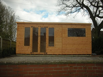 Garden rooms sheds makers of cheshire northwich for Garden rooms cheshire