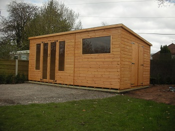 Garden rooms sheds makers of cheshire northwich for Garden office wales
